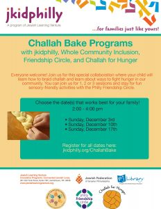 jkidphilly: Challah Bake Programs with WCI, Friendship Circle, and Challah for Hunger @ Beth Am Israel | Penn Valley | Pennsylvania | United States